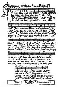 Lippai steh auf, Liedblatt aus dem Jahr 1957
